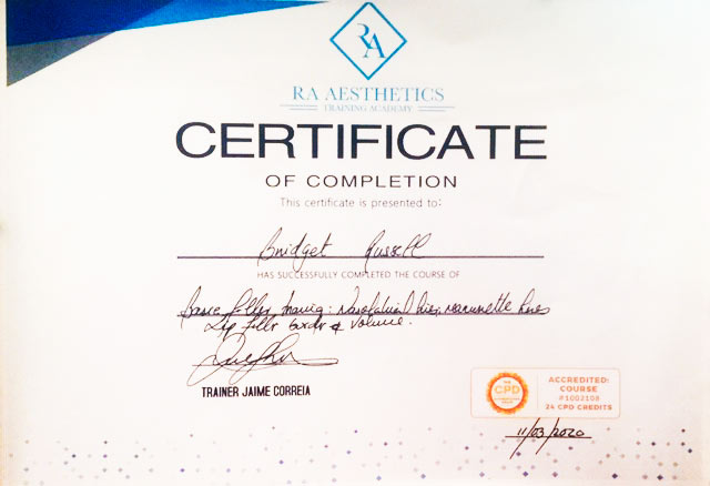 Wrinkle (B) Qualification – Certificate of Completion