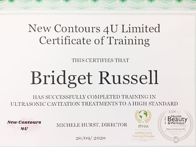 Ultrasonic Cavitation Qualification - Certificate of Completion