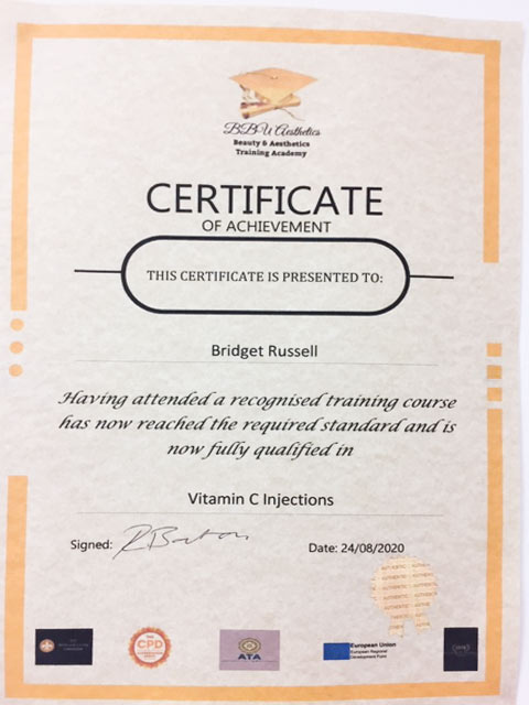 Vitamin C Injection Qualification Certificate